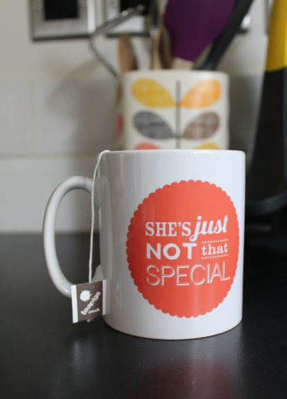 I Always Deserve Love, Care, Trust & Respect / They're Just Not That Special mug (Orange)