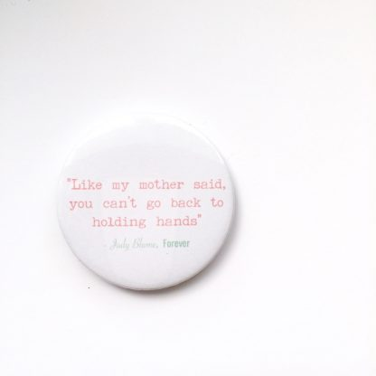 Forever by Judy Blume quote badge