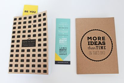 More Ideas Than Time & Note To Self notebook