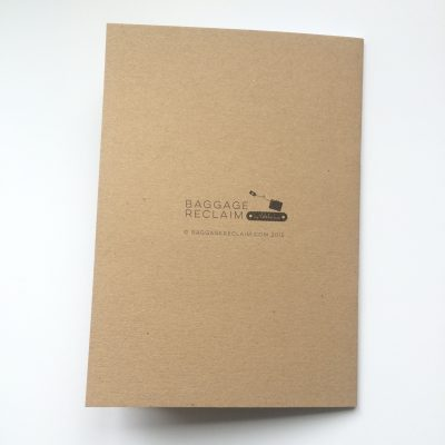 reverse of kraft notebooks