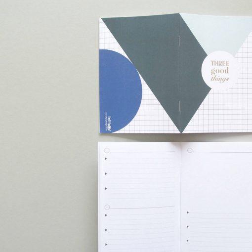 Geometric three good things notebook by Lollipop Designs